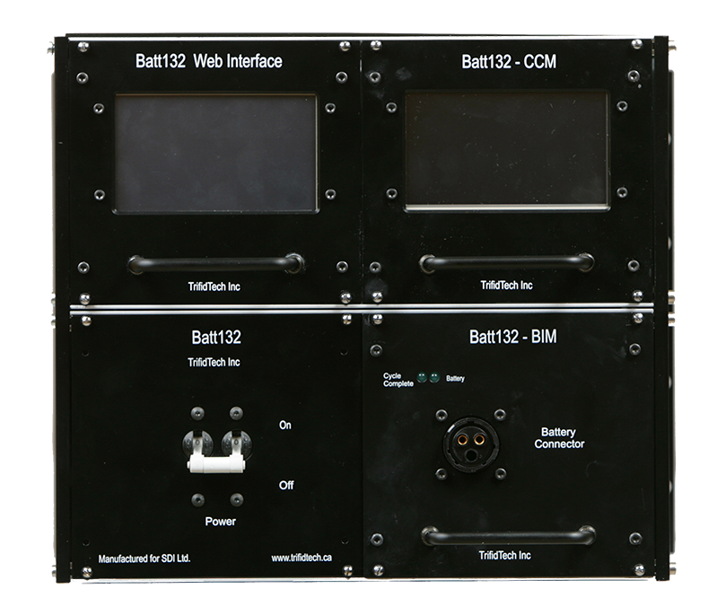 Photo of Batt132 4-unit charging station.